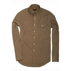 Ball And Buck The Anglers Shirt In Wheat In Button